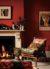 터키 러그는 〈콜빌〉 컬렉션의 일부다. 그 디자인에도 챔버스 하우스의 가장 큰 특징인 불타는 듯한 빨간색이 반영되었다.